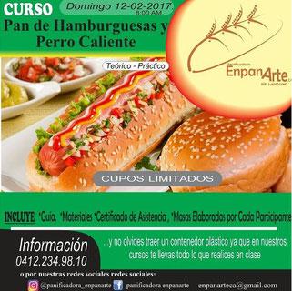 Curso Pan de Hamburguesas y Perro Caliente - EnpanArte