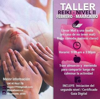 Taller Reiki Nivel II - Febrero - Maracaibo