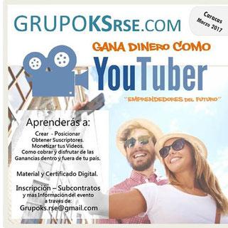 Taller Gana Dinero como YouTuber - GRUPO KSrse