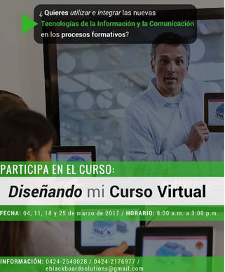 Curso Diseñando mi Curso Virtual - e-Blackboard Solutions