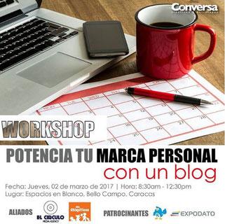 Workshop Potencia tu Marca Personal con un blog - Conversa