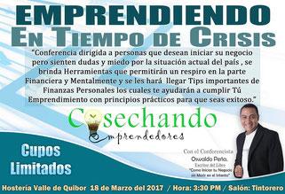 Conferencia Emprendiendo en Tiempo de Crisis