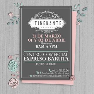 Boutique Itinerante Caracas - Parafernalia Producciones