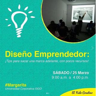 Taller Diseño Emprendedor / Margarita - El Nido Creativo