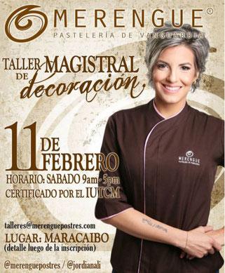 Taller Magistral de Decoración - Merengue Pastelería de Vanguardia