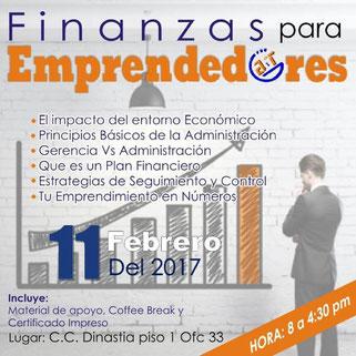Taller Finanzas para Emprendedores - A y T Cursos