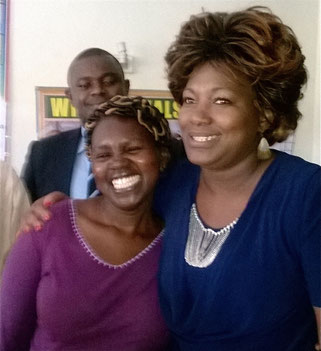 BWC Manager Teresia Mwangi with MP Rachel Shebesh