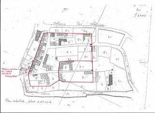 Ladevèze-Ville, La madeleine, castelnau gascon, plan