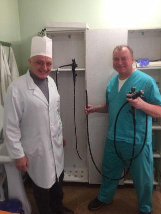 Foto: Spendenaktion für ein neues Endoskop für onkologisches Krankenhaus in Bila Zerkwa, Ukraine für Krebspatienten