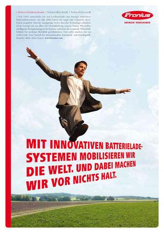 B2B-Anzeigenmotiv 'Batterieladesysteme'