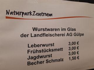 Versch. Wurstwaren aus der Landfleischerei AG Gülpe