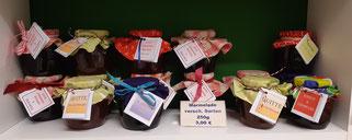 Selbstgemachte Marmeladen aus der Region, versch. Sorten 3,00 €