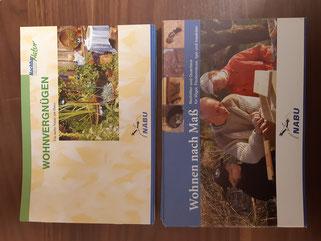 Info-Hefte Natur am Haus/ Nisthilfen und Quartiere je 2,50 €