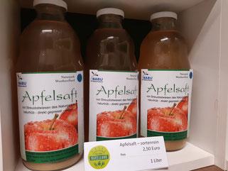 Apfelsaft von NABU-Streuobstwiesen 2,50 €