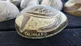 Art Kalina de gravure sur calebasse en Guyane