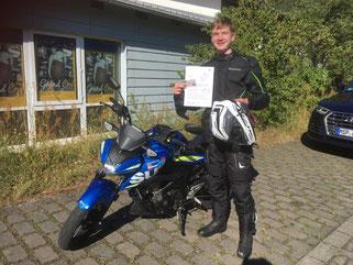 Lukas Heilig, A1-Führerschein