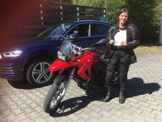 Daniela Weigel, A-Führerschein