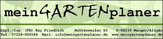TTF 81 Schomburg e.V. 88239 Wangen - Primisweiler Bild des Sponsors meinGARTENplaner, Primisweiler