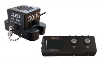 ファイバーフォトメトリー 蛍光ミニキューブ Fluorescence Mini Cube with 3ports for fiber photometry