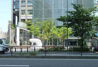 横浜市・みなとみらいの日石横浜ビルの屋外彫刻