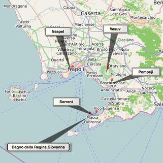 Bild: Karte Neapel und Umgebung