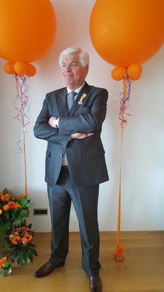 Onze voorzitter Frans Kleisterlee met lintje