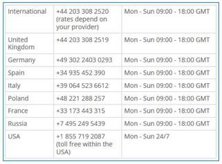 skrill vip assistenza supporto telefonico numeri