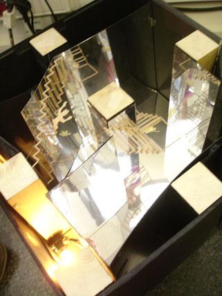 Maqueta de trabajo para la exposicion sobre Escher en Madrid
