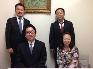 伊藤会員(右下)高崎理事長(右上)島田議員(左下)内尾会員(左上)