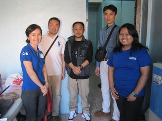 ICANの現地スタッフとボランティアスタッフの皆様と
