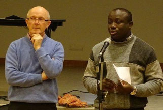 P. Yves Laurent, et P. Yves Tano, prêtre référent de l'ensemble