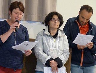 15-Non sans humour, Christiane Guyader, Anne Sophie Morant et José Manuel Mingam  ont évoqué ces bons moments passés avec Daniel à la Pastorale des Jeunes