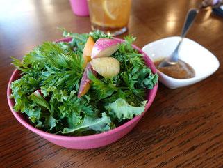 栃木県産有機野菜のサラダ