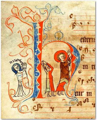 Lapidation de saint Étienne-KB 135L20 f°114v