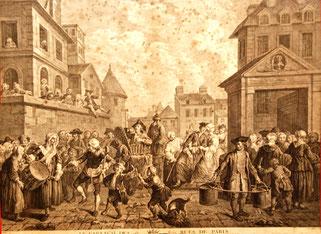 Levasseur, La fête dans les rues de Paris, musée Boucher-de-Perthes