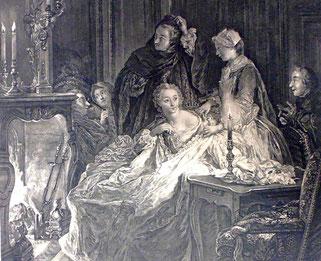 Beauvarlet, Le retour du bal, gravure, Musée Boucher-de-Perthes, Abbeville