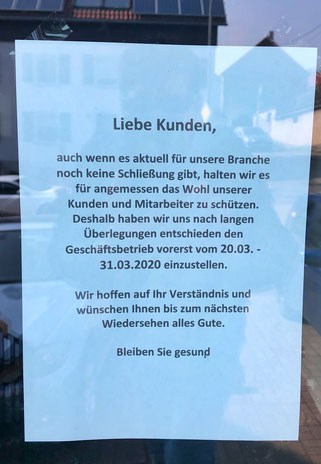 Das Haarstudio Frank Kurz in Auersmacher hat bis 31. März geschlossen.