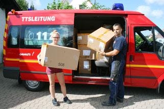 In Sitterswald wurden Kisten geschleppt. Foto: Heiko Lehmann