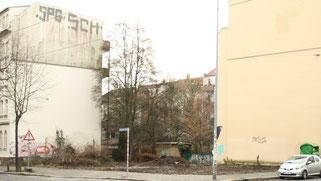 Nachher: Kahlschlag für Parkplätze. Fotos: Sabrina Rötsch