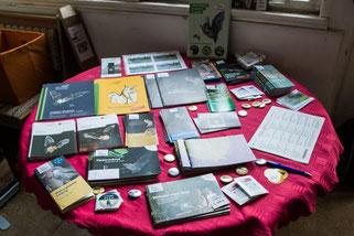 Daneben konnte man sich mit Informationsmaterial zum Fledermausschutz versorgen. Fotos: Ludo Van den Bogaert