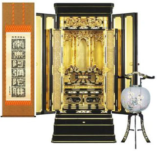 仏用掛軸・お仏壇・盆提灯(ご供養品例)