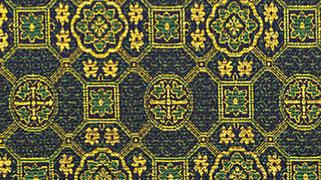 掛軸表装 仏用緞子 準金襴緑蜀江