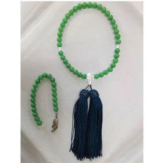 翡翠のネックレスを念珠に修理 片手・女性物