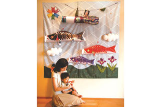 キャンバス鯉のぼり 部屋に飾ったイメージ