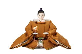 優香作「親王飾り」黄櫨染御袍 男雛(京十)