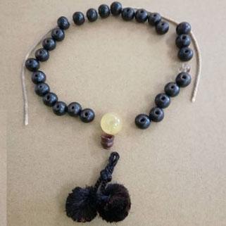 念珠(数珠)修理前 片手・男性物