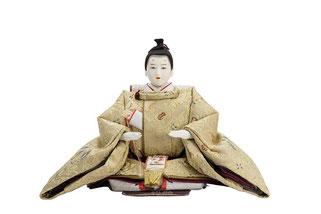 優香作「親王飾り」麟鳳襷紋 男雛(京十二)