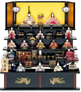 真多呂人形「翠鳳雛15人飾り」 品番:1312