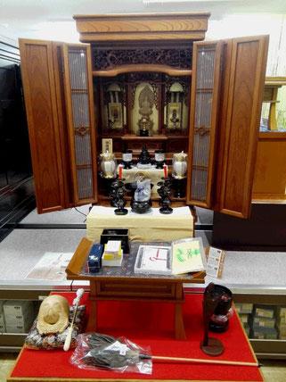 欅仏壇:明色仕上げ 仏具:臨済宗大徳寺派