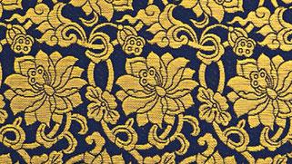 掛軸表装 仏用緞子 準金襴蓮華紋